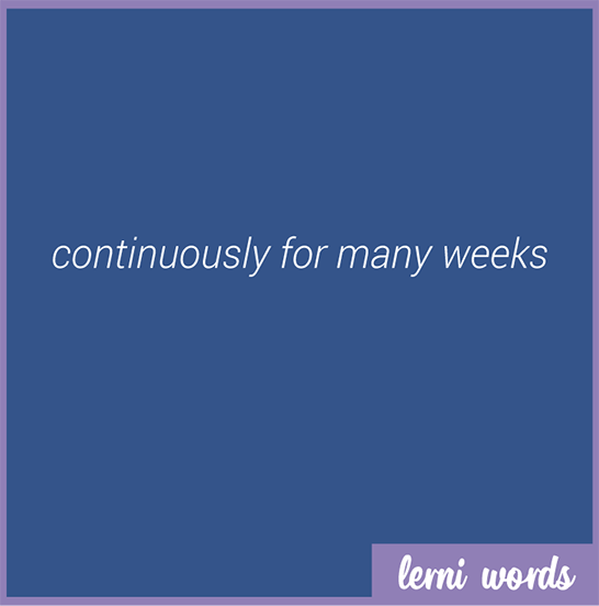 Week in week out - Lerni Words